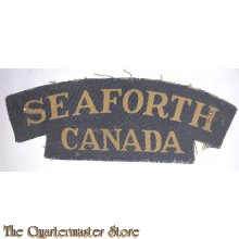 Shoulder title Seaforth Highlanders of Canada, 1st Canadian Division (canvas)