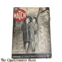 Magazine MATCH 12 octobre 1939 , L' Hebdomadaire de L' Actualite Mondiale