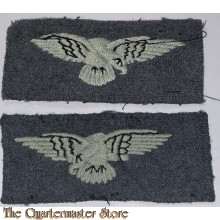 WW2 original opposite facing RAF eagle cloth badges