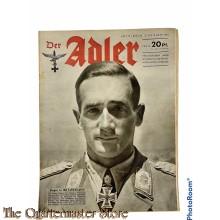 Zeitschrift Der Adler heft 19 , 15 sept 1942 (Magazine Der Adler no 19, 15 sept 1942)