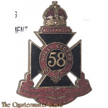 Cap badge 58th Inf Bat (The Essendon Coburg Brunswick Regiment)