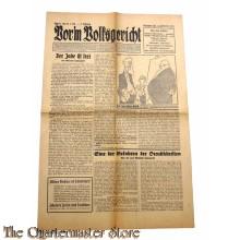 Zeitung Vor'm Volksgericht 2er Jrg Folge 21,  25-5-1933