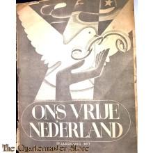Ons vrije Nederland 5e jrg no 7  (Vredesduif)