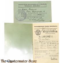 Mitgliedsbuch Kameradschaftsbund Deutsche Polizei Beamten Kreisgruppe Gross Essen 1943