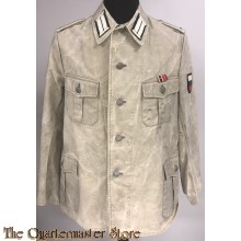 WH Sommerjacke Oberleutnant Infanterie Russisch beute material (WH Summertunic Oberleutnant Infantry russian captured cloth)