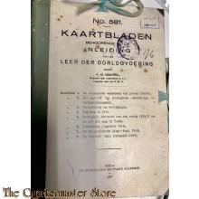 Voorschrift no 581 kaartbladen behorende bij de inleiding tot de leer der oorlogvoering