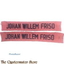 Straatnamen Infanterie Regiment Johan Willem Friso