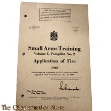 Pamphlet No 2 , Manual Small arms Training  Vol 1  Apllication of Fire Canada