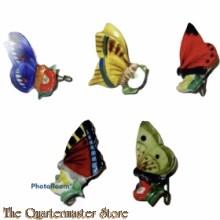 WHW 5 Abzeichen Für Mutter und Kind verschiedene Schmetterlinge Keramik