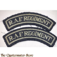 Shoulder titles RAF Regiment embroided