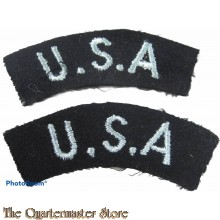 Shoulder flashes RAF 'U.S.A.' E.S. (Eagle Squadron)