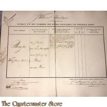 Extract uit het stamboek der Officieren Koloniaal Werf Depot 1861 Bresjer Willem Johannes Stephanus