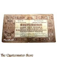 Zilverbon 1 gulden 1938 (Banknote 1 Guilder 1938)