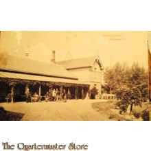 Prent briefkaart 1915 Harskamp officierscantine
