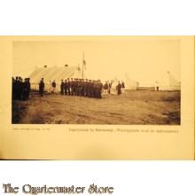Prent briefkaart 1910 Harskamp Wachtparade voor de Ambulance