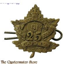 Collar Badge NCO WWI 25th Battalion Nova Scotia Rifles CEF Canada