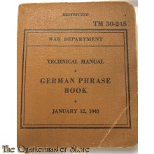 TM 30-245 GERMAN Phrase Book 1943