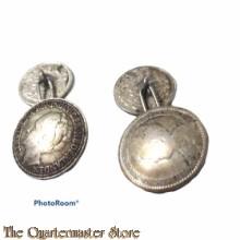 Manchetknopen van munten, anti duits (Cufflinks dutch coins)
