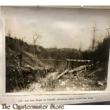 Press photo , WW1 Italian front , british engineers building bridge