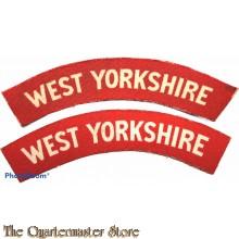 Shoulder flashes West Yorkshire Regiment (canvas)