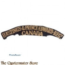 Shoulder title Hastings & Prince Edwards Regiment Canada (canvas)