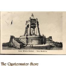 Postkarte Kaiser Wilhelm Denkmal, Porta Westfalica 1914