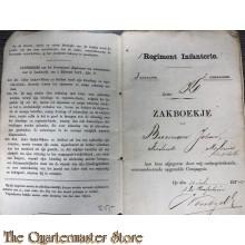 Oorlogszakboekje 1 Reg 3e bat 2e comp 1881 Groningen