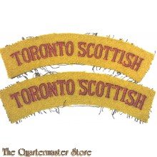 Shoulder flashes Toronto Scottish , 4th Canadian Division