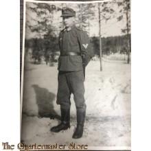 Large monochroom IDed photo Luftwaffe NCO 1943  Finland