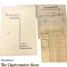 Dokumente Reichsjugend Wettkampfe der Stadt Harburg-Wilhelmsburg 1932