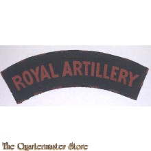 Shoulder flash Royal Artillery Regiment (canvas)