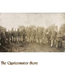 Ansicht 1914 groep Huzaren met paarden