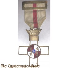 Spain – Order of Military Merit, I Class Cross with White Distinction (Orden del Mérito Militar, Cruz del 1ª Clase con Distintivo Blanco), 1938-1975 issue (Franco period).