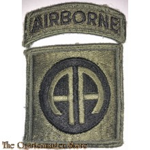 Mouwembleem 82nd Airborne Division (Sleeve patch 82nd Airborne Division) Subdued