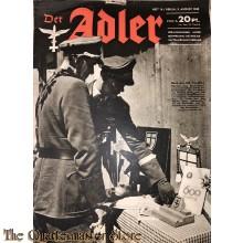 Zeitschrift Der Adler heft 16,  3 aug 1943  (Magazine Der Adler no 16, 3 aug 1943)