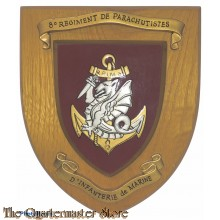 France - Wandbord 8e Regiment de Parachutistes, d' Infanterie de Marine