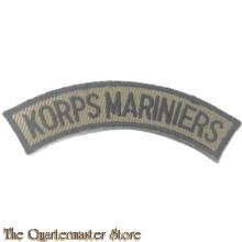 Straatnaam Korps Mariniers zwart op kaki