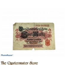 Darlehnkassenschein  Zwei Mark 1914