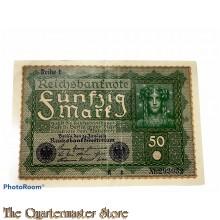 Reichsbanknote  50 (Funfzig) Mark 1919