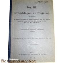Voorschrift no 91 Grondslag en regeling opleiding
