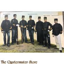 Postkaart 1914  Infanterie, kader