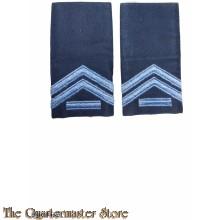 Set luchtmacht schouder rangen Korporaal der 1e klasse