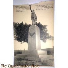 Postcard  Cheppy , monument from the State of Missouri 1917