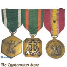 Medalbar 3 medals US Navy