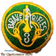 Mouwembleem 3rd Armored Cavalry Regiment (Brave Rifles 3) (Sleeve badge 3rd Armored Cavalry Regiment (Brave Rifles 3))