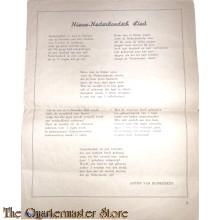 Brochure NSB ; Uit het dagboek van een propagandist Nederlandsche unie (nieuw-Nederlandsche Lied)