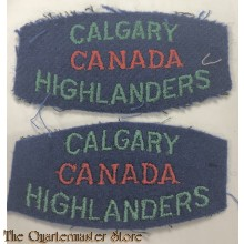 Shoulder flashes  Calgary Highlanders of Canada , 2rd Canadian Division