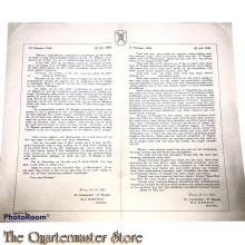 Poster 23 febr 1946 - 20 juli 1949 opheffing X Brigade