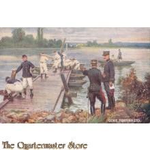 Postcard (Ansichtkaart) L Armee Francais Genie, Pontonniers