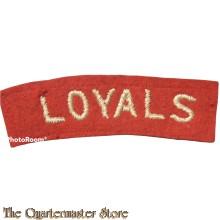 Shoulder flash Loyal Regiment (North Lancashire)